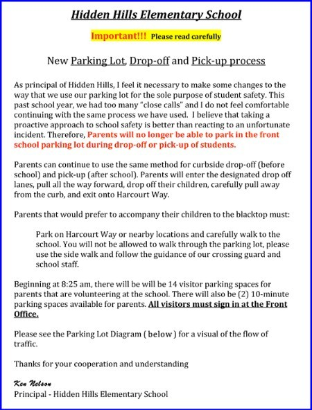 2011 Parking Lot Procedures