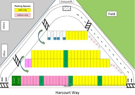 2011 Parking Lot Map