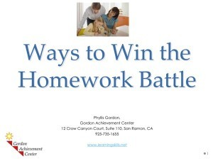 Ways to Win the Homework Battle